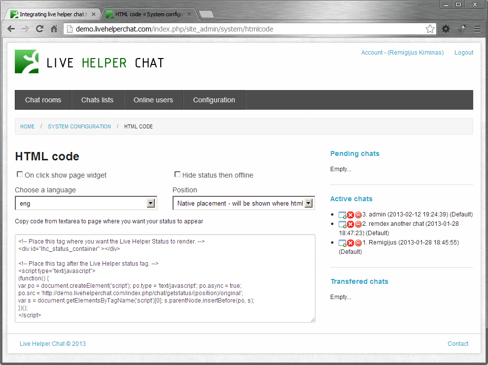 irc web chat html code