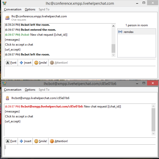 Openfire, Pidgin and Live Helper Chat configuration tutorial
